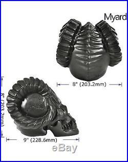 Myard Demon Skull Fire Gas Log (Black)