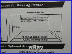 NEW 24 Vent-Free Propane Gas Fireplace Logs Thermostat Control Heating Insert