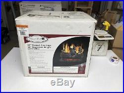 NEW Pleasant Hearth 18 45000-BTU Dual-Burner Vented Natural Gas Fireplace Logs