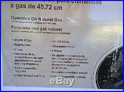 NIB 18 VENTED Natural-Gas Dual-Burner FIREPLACE Imitated LOGS - 6 logs