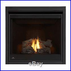 Napoleon B35NTE Ascent 35 Direct Vent Gas Fireplace with Phazer Log Set