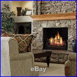 Napoleon Fiberglow 30 Vented Ceramic Log Set Insert for Gas Fireplace (Damaged)