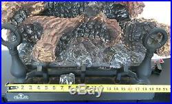 Napoleon GL18NE 18 Fiberglow Vented Gas Log Set Fireplace, Electronic Ignition