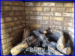 Napoleon Gas Fireplace HDX40NT Direct Vent 40 Clean Face Modern Log river rock