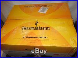 Natural Gas Fireplace Logs Fire Log Insert Set Thermablaster UNOPEN MINT IN BOX