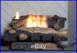 Natural Gas Fireplace Oakwood Fire Vent Free Logs Set Emberglow Log