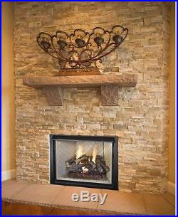 Natural Gas Log Set 24 in Fireplace Insert Convert Kit Heater Realistic Hearth