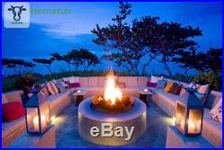 Natural Glo Large Gas Fireplace Logs 10 Piece Set of Ceramic Wood Logs