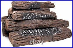 Natural Glo Large Gas Fireplace Logs 10 Piece Set of Ceramic Wood Logs. Use
