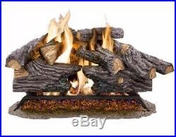 New 24 Natural Gas Log Set Split Oak Vented Indoor Home Glowing Embers