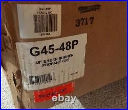 New Real Fyre G45-48P 48 Ember Burner Propane Gas includes SPK-26 pilot kit