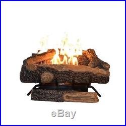 Oakwood 24 in. Vent-Free Propane Gas Fireplace Logs with Thermostatic Control