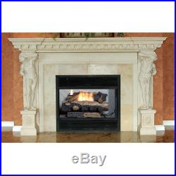Oakwood Vent Free Propane Gas Fireplace Logs 24 in Thermostatic Control Heating