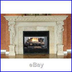Oakwood Vent-Free Propane Gas Fireplace Logs Thermostatic Control 24 heater