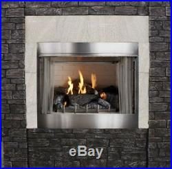 Outdoor Traditional 42 Premium MV Fireplace with Log set, NG