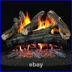 PROCOM WAN24N-2 Vented Natural Gas Fireplace Log Set 24 In, 55,000 Btu, Match