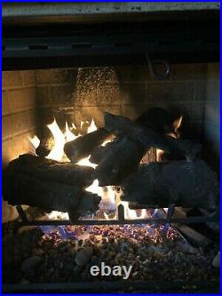 Peterson 24 CHAO Charred American Oak Fireplace Vented Log Set With G46 Burner