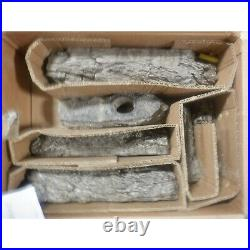 Peterson Real Fyre 18 Rustic Oak Gas Log Set With Vented Natural Gas G45 Burner