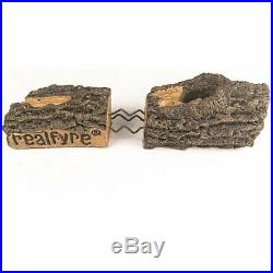 Peterson Real Fyre 18-inch Charred Aged Split Oak Log Set With Vent-free NG