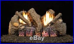 Peterson Real Fyre 24 Foothill Oak Logs, Vent Free G19 ANSI Burner & 01V Remote