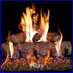 Peterson Real Fyre 24-inch Live Oak Log Set With Vented Burner, Match Lit Natur