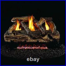 Peterson Real Fyre 24-inch Split Oak Log Set With Vent-free Natural Gas