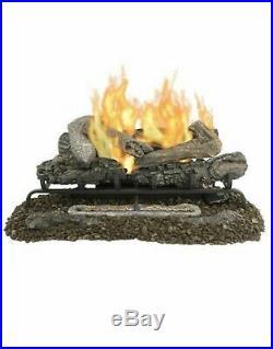 Pleasant Hearth 18-in 30000-BTU Dual-Burner Vent-free Gas Fireplace Logs-849087
