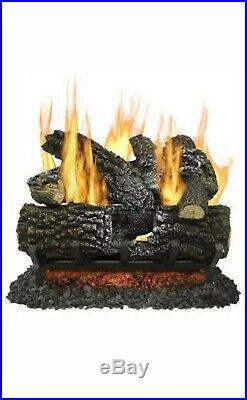 Pleasant Hearth 18-in 45000-BTU Dual-Burner Vented Natural Gas Fireplace Logs