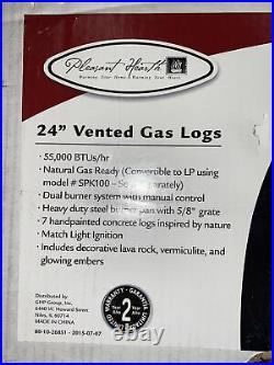 Pleasant Hearth 24 Willow Oak Vented Gas Log Set 55,000 BTU's