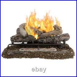 Pleasant Hearth Valley Oak 30 in. Vent-Free Dual Fuel Gas Fireplace Logs
