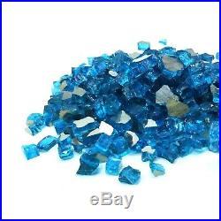 Premium Caribbean Blue 1/2 Premium Reflective Fire Glass, Fireplace & Fire Pit
