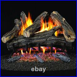 ProCom Vented Natural Gas Fireplace Log Set 24 in, 55,000 BTU, Model WAN24N-2