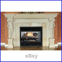 Propane Gas Fireplace Logs Decorative Fire Wood Vent-Free Automatic Shut-Off