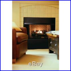 Propane Gas Fireplace Logs Vent Free with Thermostatic Control Automatic Shutoff