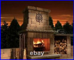 REAL FYRE 7 Piece Colonial Oak Gas Logs With Burner Fireplace Insert