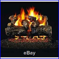 RH Peterson Co. HCHR-18-20 Real Fyre Burnt Rustic Oak Vented Gas Logs (18/20)