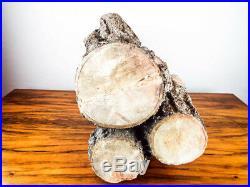 Rare Antique Strait & Richards Terra Cotta Driftwood Gas Fireplace Fire Log 22