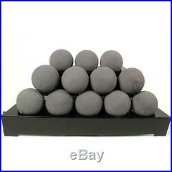 Rasmussen 30 Dark Gray ALTERNA FireBall Set Vent Free Natural Gas -Remote Ready