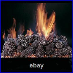 Rasmussen Pine Cones Gas Logs, Logs Only, 24