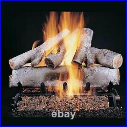 Rasmussen White Birch See-Through Gas Logs, Logs Only, 18