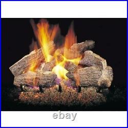 Real Fyre 18 Charred Rugged Split Oak Vented Gas Logs No Burner NEW