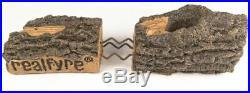 Real Fyre 18 Rustic Oak Log Set With Vented G45 Burner Match Light