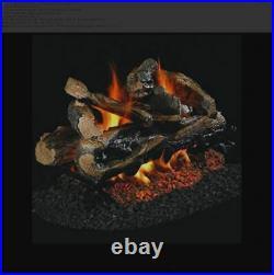 Real Fyre 24 Split Oak See-Thru Gas Logs Log Set Only