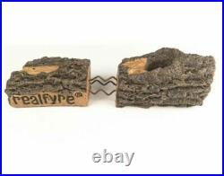 Real Fyre 24-inch Charred Evergreen Split Oak Gas Logs Set