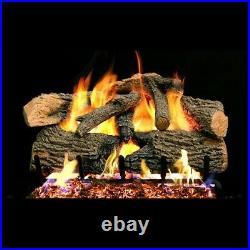 Real Fyre 30-inch Charred Evergreen Oak Gas Logs Set Only Design for G52 Burner