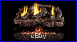 Real Fyre Charred Aged Split 24 Vent Free Gas Log Natural Gas with Remote