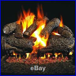 Real Fyre Charred Forrest Oak 30 Vented Outdoor Gas Log Propane CHF-30