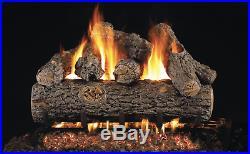 Real Fyre Charred Golden Oak Designer Plus 36 Vented Gas Log Natural Gas Remote