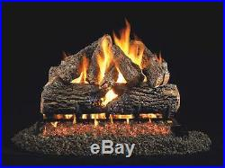 Real Fyre Charred Oak Vented Gas Logs, 24-Inch