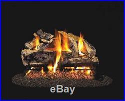 Real Fyre Charred Rugged Split Oak Vented Gas Logs, Logs Only, 24